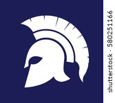 spartan helmet silhouette ... | Shutterstock .eps vector #580251166