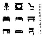 comfortable vector icons. set... | Shutterstock .eps vector #580252222