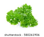 green leaves of parsley... | Shutterstock . vector #580261906