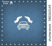 car insurance web icon. vector... | Shutterstock .eps vector #580263145