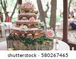 naked wedding cake 3 | Shutterstock . vector #580267465
