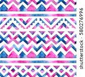 seamless watercolor pattern.... | Shutterstock . vector #580276996