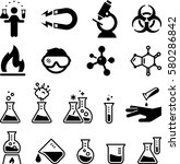 science laboratory and chemist... | Shutterstock .eps vector #580286842