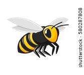 illustration of flying bee... | Shutterstock .eps vector #580287808