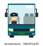 tourist bus with driver | Shutterstock . vector #580291645
