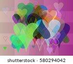 valentine texture icon | Shutterstock .eps vector #580294042