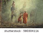 Buddhist Monks Meditation...