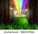 st. patrick s day symbol green... | Shutterstock .eps vector #580319386
