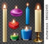 aromatherapy candles flame... | Shutterstock .eps vector #580322455