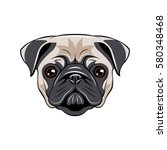 pug dog face   vector... | Shutterstock .eps vector #580348468