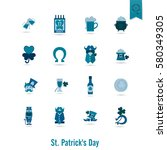 saint patricks day isolated... | Shutterstock .eps vector #580349305