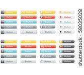 web vector buttons | Shutterstock .eps vector #58035028
