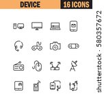 device flat icon set.... | Shutterstock .eps vector #580357672