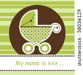 any baby arrival card  vector | Shutterstock .eps vector #58036129