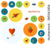 simple flat icons collection... | Shutterstock .eps vector #580361806