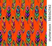 cute vector seamless pattern...   Shutterstock .eps vector #580362562