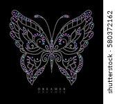 rhinestone graphic for t shirt | Shutterstock . vector #580372162