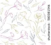 flower white background. rustic ... | Shutterstock .eps vector #580381546