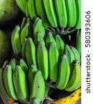 green banana   Shutterstock . vector #580393606
