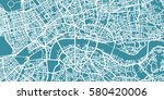 detailed vector map of london ... | Shutterstock .eps vector #580420006