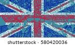 detailed vector map of london... | Shutterstock .eps vector #580420036