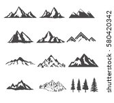 set of the mountains... | Shutterstock .eps vector #580420342