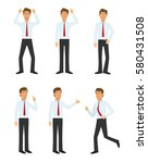 young businessman character set ... | Shutterstock .eps vector #580431508