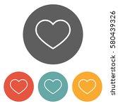 heart icon | Shutterstock .eps vector #580439326