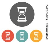 hourglass icon  | Shutterstock .eps vector #580439392