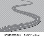 winding road isolated on... | Shutterstock . vector #580442512