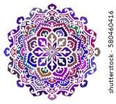 multicolor mandala. vector... | Shutterstock .eps vector #580460416