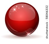 red glossy sphere isolated on...   Shutterstock .eps vector #58046332