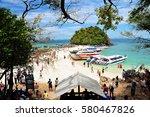 krabi thailand   june 4  2014 ... | Shutterstock . vector #580467826