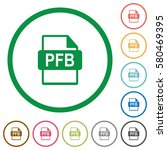 pfb file format flat color... | Shutterstock .eps vector #580469395