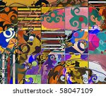 abstract background  color... | Shutterstock . vector #58047109