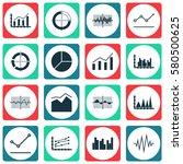 set of graphs  diagrams and... | Shutterstock .eps vector #580500625