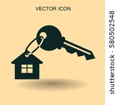 house key icon vector... | Shutterstock .eps vector #580502548