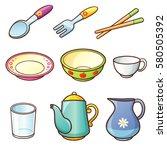 vector illustration of cartoon...   Shutterstock .eps vector #580505392