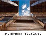 modern timber clad building... | Shutterstock . vector #580513762