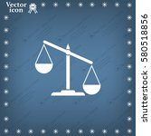 pictograph of justice scales | Shutterstock .eps vector #580518856