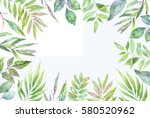 hand drawn watercolor... | Shutterstock . vector #580520962