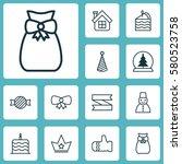 set of 12 celebration icons....   Shutterstock .eps vector #580523758