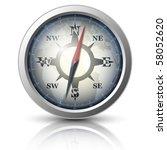 vector compass icon | Shutterstock .eps vector #58052620