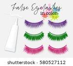colorful false eyelash... | Shutterstock .eps vector #580527112