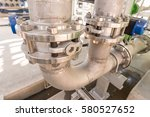 metal pipe flanges with bolts   ... | Shutterstock . vector #580527652