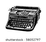vintage typewriter   retro clip ... | Shutterstock .eps vector #58052797