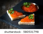appetizers with bread and red... | Shutterstock . vector #580531798