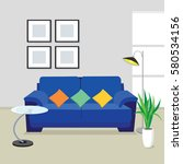 living room | Shutterstock .eps vector #580534156