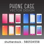 set of covers and backgrounds... | Shutterstock .eps vector #580534558