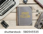 story telling text on cover of... | Shutterstock . vector #580545535